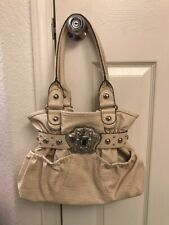 Kathy Van Zeeland Beige Belt Tote Shoulder Bag