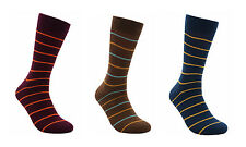 "Men Cotton Seamless Socks 3 PACK by Rambutan ""Volcano Collection"" Multi-Color"
