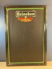 "Heineken Beer Chalk Board Sign Bar Room Man Cave 17.5"" x 25.5"""