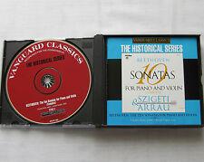 SZIGETI-ARRAU/BEETHOVEN Complete violin & piano sonatas USA 4CD box (2004) NM