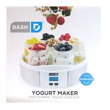 NEW Dash Easy Simple Healthy Probiotic Great Taste 7 Jar Home Made Yogurt Maker
