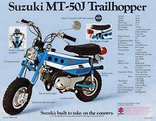 1972 SUZUKI MT-50J TRAILHOPPER SALES SPECS AD/ BROCHURE