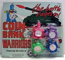 Coin Bank Warrior Toy Gumball Vending Machine Disp Card
