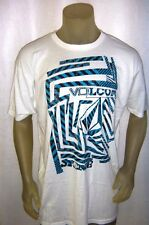 NWT VOLCOM Graphic Tee White/Black/Turquiose Size Large