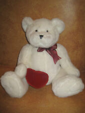 White Plush Teddy Bear Valentine Heart Buttery Soft Valentines Day Bears Love
