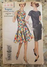 Vintage Vogue Special Design Pattern 20's 30's design One Piece Dress Size 16