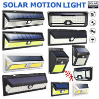 LED Solar Power Light PIR Motion Sensor Garden Security Outdoor Yard Wall Lamp
