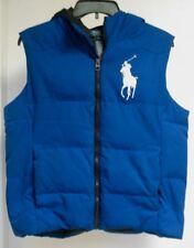 Polo Ralph Lauren Vest Big Pony Hooded Down Vest W/ Hood, Unisex SZ. LARGE