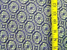 PURPLE CROCHET LOOK OPEN WEAVE FABRIC POLYESTER NO STRETCH BY THE 1/2 YARD