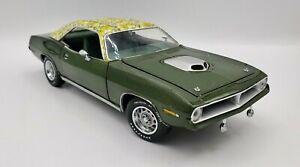 1970 Plymouth Hemi Cuda Mod Top Franklin Mint 1:24 Diecast