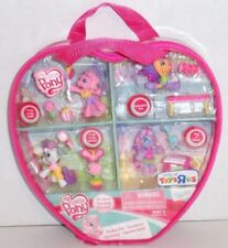 New My Little Pony Ponyville Figures Lot Carry Case Accessory Set Retired