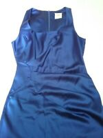 NATASHA GAN STUNNING ROYAL BLUE FITTED COCKTAIL DRESS WITH PLEATS SIDE SIZE 8.