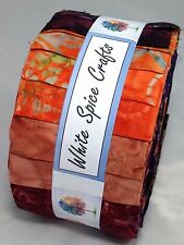 Desert Sunset Bali Batik Jelly Roll 40 pc for craft & quilting  FREE AU POST