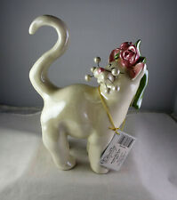Amy Lacombe Whimsiclay Wedded Bliss Bride Cat Figurine
