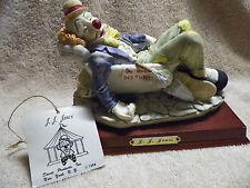 Davar Clown Figurine Do No Disturb JJ Jones Bathtub cat & rat