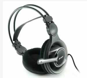 A4Tech HS-100 Stereo Gaming Headset (Black)