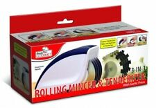 Rolling Mincer & Tenderizer Garlic Press 3in1 Mince Tenderize Stainless Steel