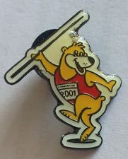 World Athletic Championships Javelin Bear Pin Badge Rare Vintage (F3)