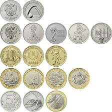 ✔ Russland 10 25 rubles 2019 2020 75 year war Set 13 Pc UNC fifa world cup 2018