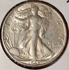 WOW! 1945 D WALKING LIBERTY HALF DOLLAR $ILVER NICE STRIKE MINT LUSTER FROM ROLL