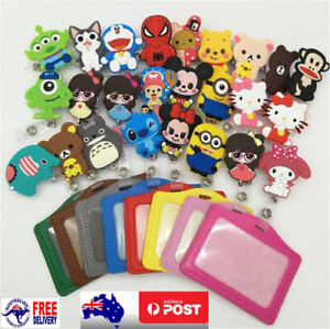 Cartoon Retractable Clip ID/Opal/ Myki Metro Card Holder school bag Luggage Tag