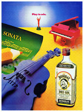 BOMBAY Dry Gin Bottle with Violin & Piano advertisement A4 size HQ print