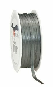 100 x Wholesale Joblot 25 Metres Roll DOUBLE SIDED Satin Ribbon Rolls 10mm Grey