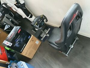 Sim Racing Rig Playseat With Fanatec CSL Elite F1 Steering Wheel & Pedals PS4/5