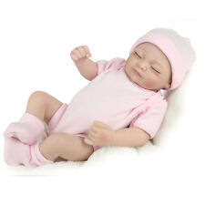 Handmade Newborn Baby Silicone Realistic Reborn Dolls Bedding Decor Kids Girl