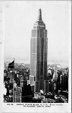 VINTAGE RPPC real photo POSTCARD New York City Empire State Building