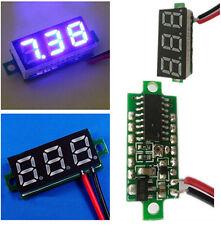 """Mini 2.5V-30V 0.28"""" Display LED Digital Voltmeter Voltage Tester Meter Blue BOS"""