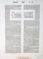 BIBLIA LATINA BIBELBLATT RUSCH FÜR KOBERGER INITIALE RUBRIZIERUNGEN 1481