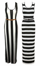 Unbranded Machine Washable Striped Maxi Dresses for Women