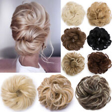 Natural As Human Curly Messy Bun Hair Piece Scrunchie Fake Hair Extension Updo