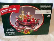 Mr Christmas STANLEY STEAMER Musical Animated 13 Christmas Carols Real Smoke!