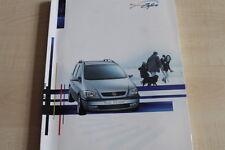 161869) Opel Zafira Pressemappe 1999