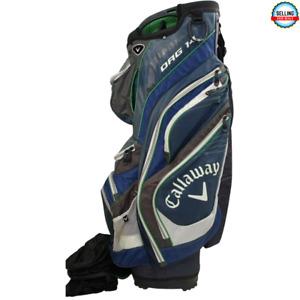 CALLAWAY ORG14 14-Way Cart Golf Bag Blue/White/Green with Rain Cover