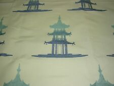 "~BTY~"" ASIAN ORIENTAL PAGODA""~EMBROIDERED UPHOLSTERY FABRIC FOR LESS~"
