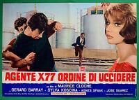 T50 Fotobusta Agente X77 Order By Killer Gerard Barray Sylva Koscina Cloche 1