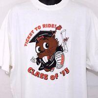 Beaverton High School T Shirt Vintage 90s Class Of 1993 Beavers Graduation 2XL