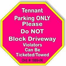 Tennant Parking Pink Gold Metal Outdoor Sign
