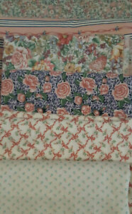 Lot Cotton Quilt Fabric Calico 18 yards Pink, Purple Floral VTG 3 yards each