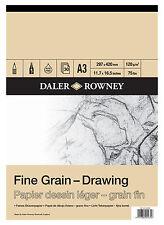 A3 Daler Rowney Grana Fine Disegno Pad 120gsm artista con texture carta da disegno