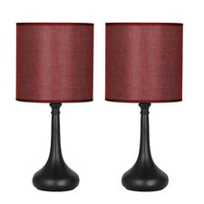 Set of 2 Vintage Nightstand Lamps Small Table Desk Lamps...