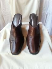 Worthingtom Meredith Women Shoes Mules Slip On Brown Leather Brazil  8.5 M