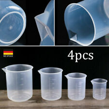 4X Kunststoff Messbecher Set Meßkanne Meßbecher 50-500ml für Labor Küche DE