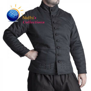 Medieval Gambeson Aketon Jacket Costume Thick Padded Full Sleeves Coat SCA LARP
