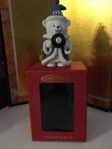 HUDSON'S 1999 SANTA BEAR CHRISTMAS ORNAMENT