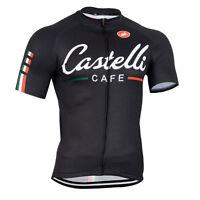 Mens MTB Mountain Black Road Cycling Short Sleeve Jersey SIZE S/M/L/XL/XXL/XXXL