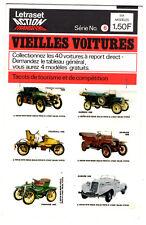 LETRASET ACTION TRANSFERS ¤ 1971 ¤ 6 TACOTS ¤ VIEILLES VOITURES SERIE n°6
